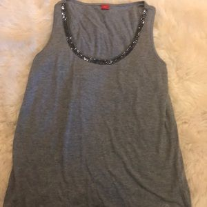 Gray tank with sparkles